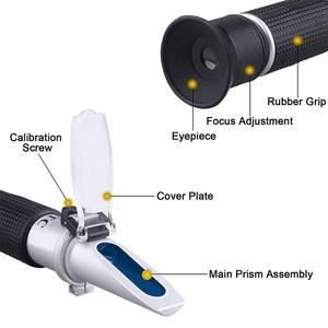 0-80% Alcohol Refractometer Hydrometer Alcoholmeter Refratometro Wine Concentration ATC Spirits Tester Handheld