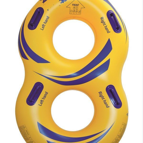 42″Double waterpark tube yellow heatbonded welding