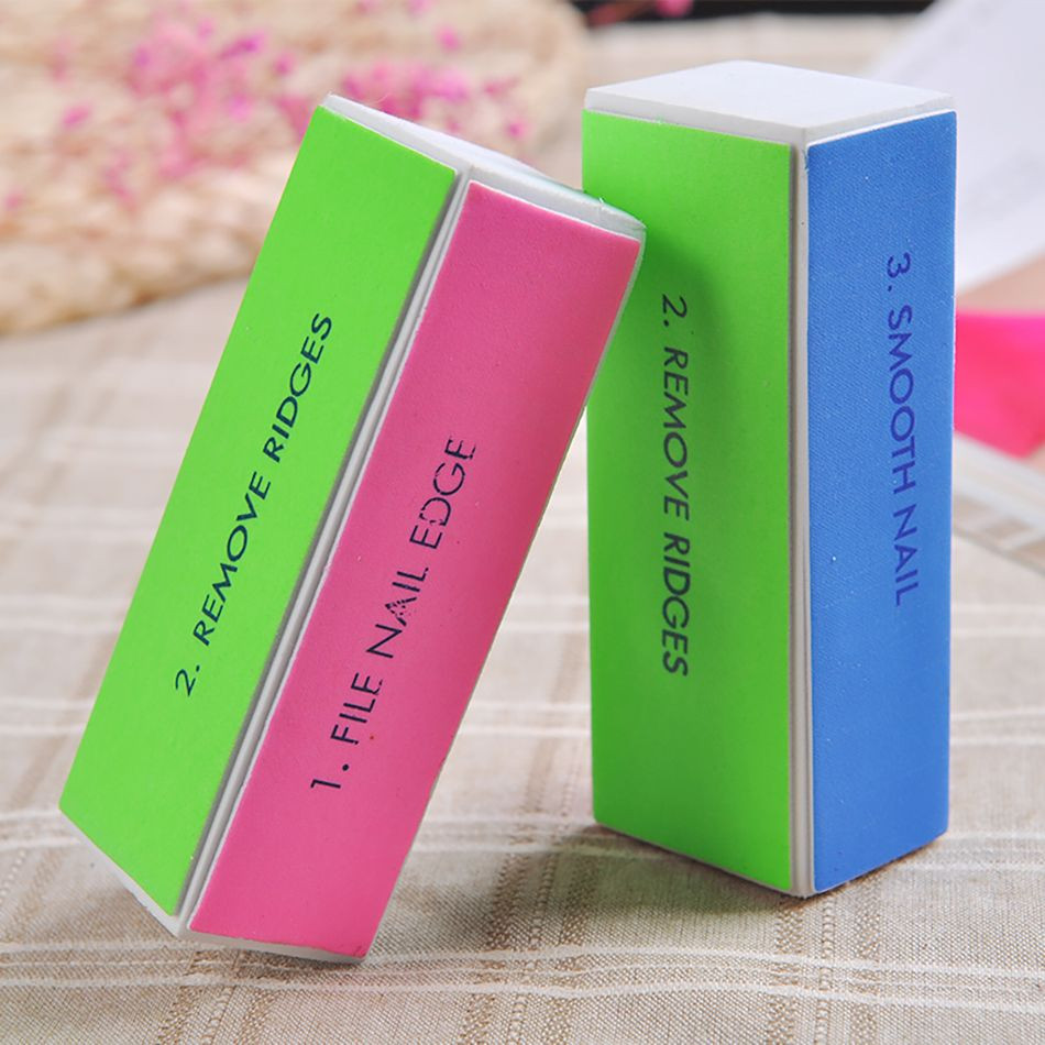 Nail Files 4 Sides Sponge Nail Buffer Block Polishing Sanding Block Tools for Nail Art With Gel Nail Art For Design