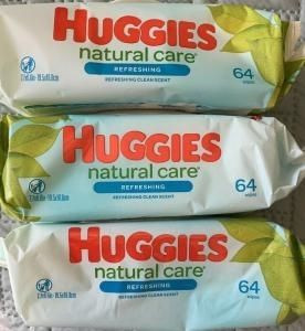 Huggies Natural Care Baby Wipes Lot of 3 64ct