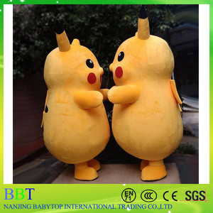 2017 wholesale cartoon character pikachu pokemon mascot costume