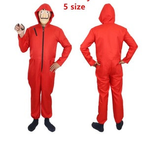 2019 new Hot Salvador Dali La Casa De Papel Cosplay Costume Red Coverall for kids and adults
