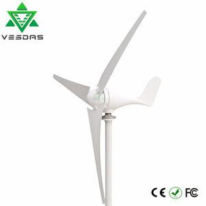 2m/s start wind speed 12V or 24V AC three phase 100W small wind turbine generator windmill for wind solar hybrid system