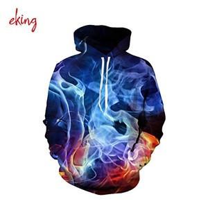 3d Customized oversized pullover hoodies sweatshirts