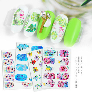 5D embossed flower nail sticker self-adhesive decals manicure nail art sticker decoration
