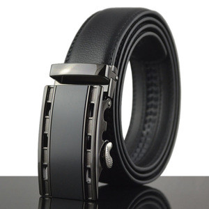 Ab380 Men's Leather Ratchet Dress Belt with Automatic Buckle