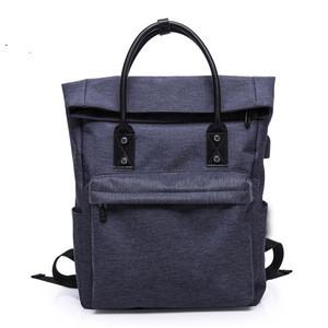 Backpack boys leisure school bag trend non - canvas large capacity computer travel portable Korean version back school bag