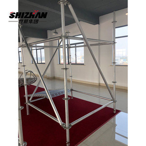 British standard construction scaffolding with platform/ladder