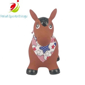 China Wholesale Inflatable Ride on Toys Jumping Animal Bouncy Hopper Horse for Kids