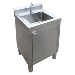 Commercial kitchen stainless steel square kitchen sinks