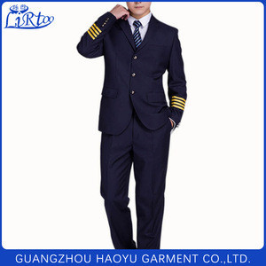 Custom high quality factory pricelong sleeve airline pilot uniform for captain