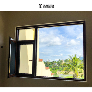 DEJIYOUPIN Aluminium Prefabricated Frames DJYP House Windows Swing Large Modern Glass Window