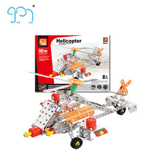 Eduecation Toy Metal Building Block Hot Selling for the Children Plane Model Puzzle Popular for the Kids