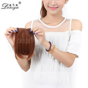 Factory Price Classic style 100% remy human hair bangs clip in fringe