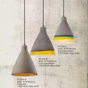 Factory Supply Cement Pendant Light,Fancy Lighting For Outdoor Concrete Pendant Lights