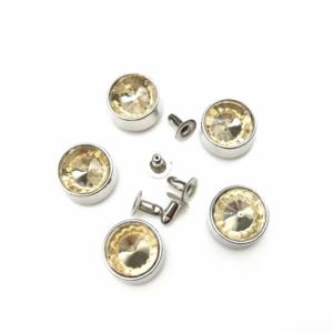 Factory wholesale colorful fashion crystal stud rhinestone rivet diamond strass rivet for garment shoe and bag