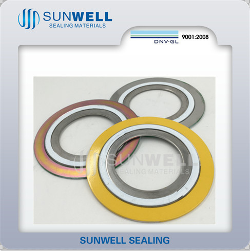 Gasket Seals Spira Wound Gasket for Valve Flange Pipe Hydraulic Seal (SUNWELL)