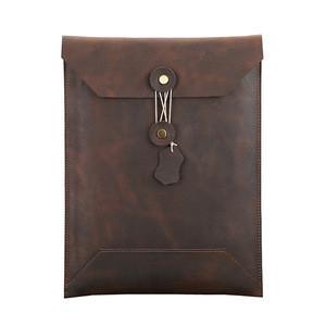 Handmade Genuine Leather File Folder Bag for Office Stuff