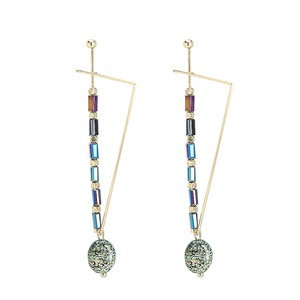 Hot Sell Personalized Bohemia Style Simple Gold Plated Natural Stone Clip - on Earring Designs For Women Girls