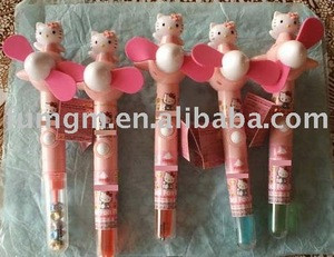 Japanese Cartoon Candy Toys with Pen Fan
