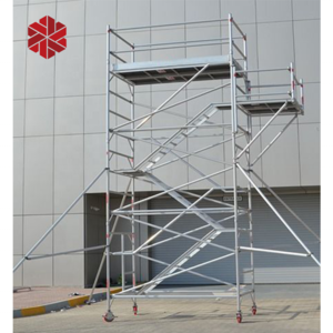 Layer scaffold tower system ringlock layer scaffolding in ladder 12m construction used steel scaffold tower system for sale