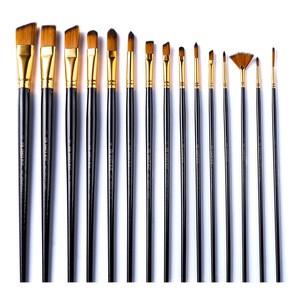 New Products 15 types Premium Art Acrylic Paint Brush Set at  Walmart