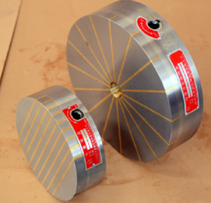 Powerful dense rotary round permanent magnetic chuck for grinding machine