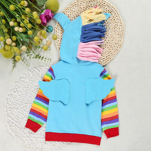 Quality new fashion girls cartoon coat tops design children kids soft cotton outwear