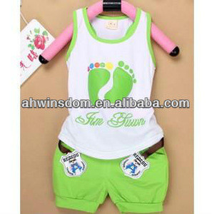 SUMMER KOREAN CHILDRENS SETS T-SHIRT+SHORT PANTS/CHILDRENS CLOTHINGS