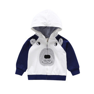 Toddler Fall Winter Warm Cotton hooded kid Clothes Baby Coat long sleeve jacket with hood