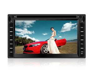 Universal 6.2inch car dvd player with navigation bluetooth phone link