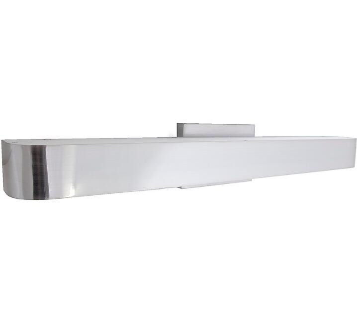 white acrylic tube LED wall mounted Vanity lighting with brushed nickel base for hotel lights vanity wall sconce