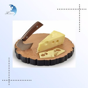 Wholesale Bamboo Cutting Board Chopping Board Wood Cheese Board and Knife Set