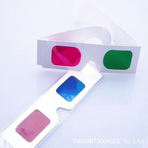 Wholesale cheap glasses, 3D video red blue paper glasses for movies