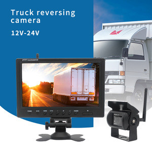 Wireless Reversing Camera 9inch HD TFT LCD Car Monitor for Truck Bus Caravan RV